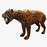 3d smilodon model