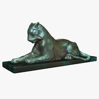 bronze tiger 3d model