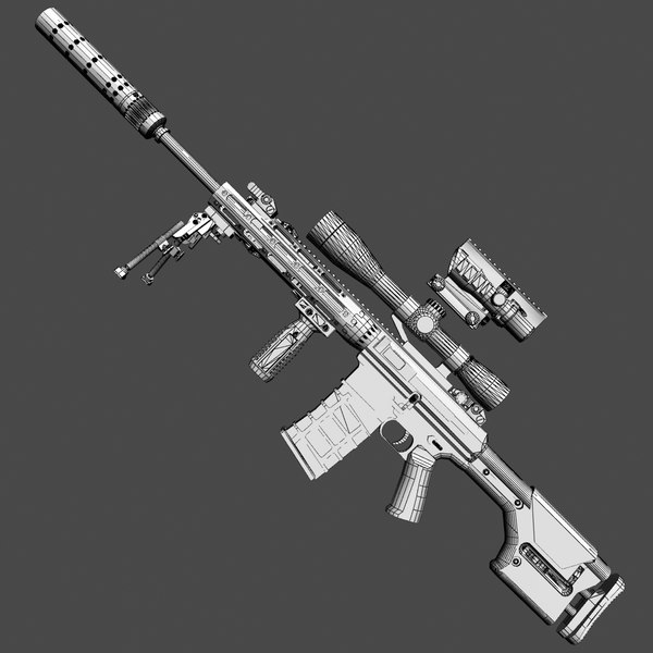 3d max remington sniper rifle - RSASS... by commander566