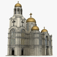 cathedral church 3d obj