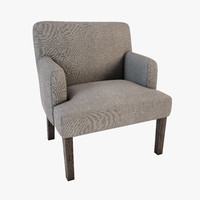armchair cts salotti vanity 3d model