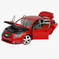 chevrolet malibu rigged car 3d max