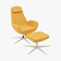Karlstad Swivel Chair & Foot Stool