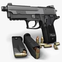 3ds max sig sauer p229 pistols
