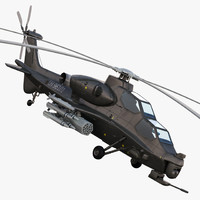 3ds max - armed licopter china