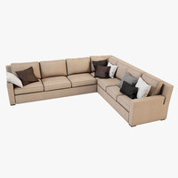 sofa asnaghi salotti flower 3d model