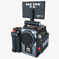 3d digital camera red