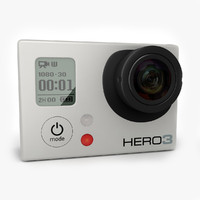 GoPro Hero 3 Camera White, Silver, Black edition