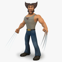 Cartoon Wolverine