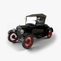 t roadster 1926-1927 3d model