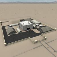chemical weapons storage 3d model