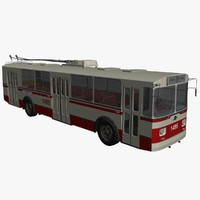 bus trolley 3d max