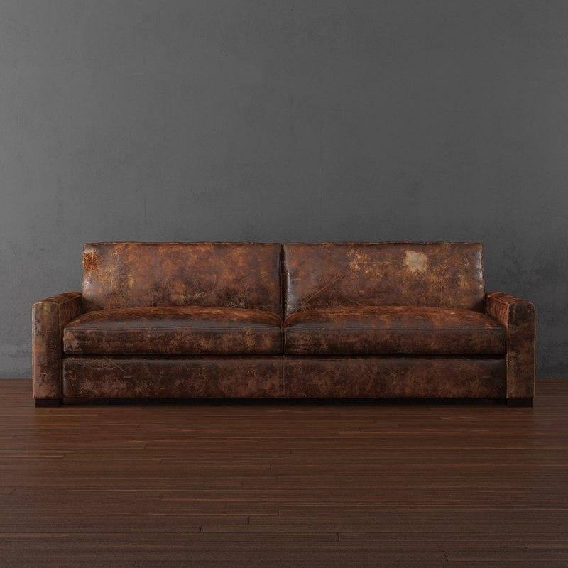 maxwell leather sleeper
