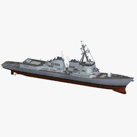 3d arleigh burke class destroyer model