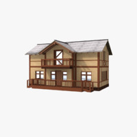 3d village cottage