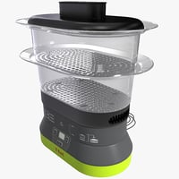 3d 4 quart food steamer model