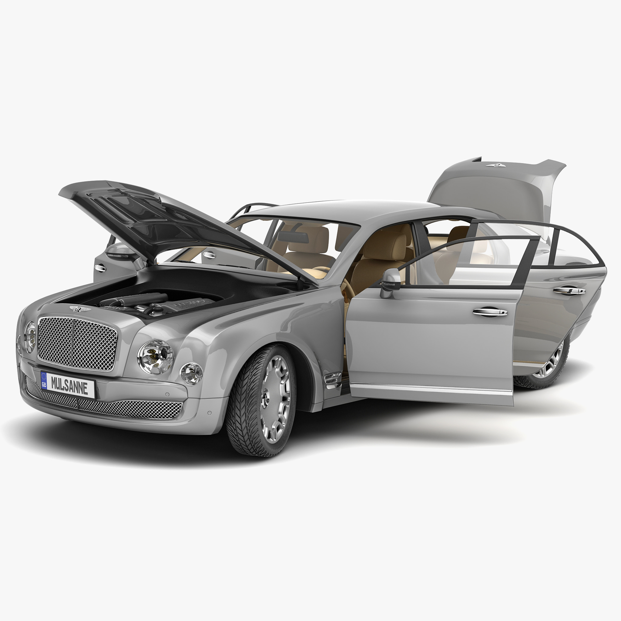 Bentley Mulsanne Mulliner 2013 3d Model
