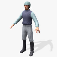 3d horse jockey real-time