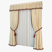3d curtains art deco