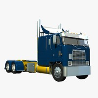 international 9670 truck frame 3d model