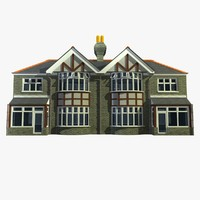 3d 2 british semi detached model