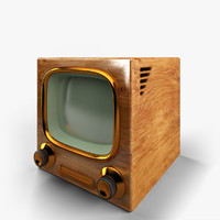 1960 s television 3d model