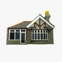 3d model of british bungalow house unit