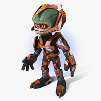 cartoon alien trooper 3d max