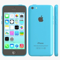 apple iphone 5c blue 3d dxf