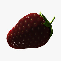 mature strawberry 3d max