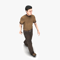 3d model walking human animation