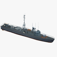3d model of german gepard class fast
