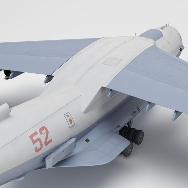 3d Ilyushin Il 76 Plane