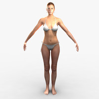 3d cammie realistic female character