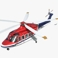 aw139 helicopter 3d 3ds