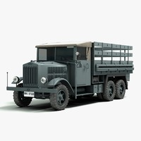 3d model ww2 german krupp truck