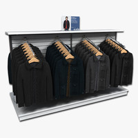 clothing rack mens coats 3d model