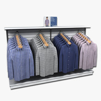 Mens Long Sleeved Shirt Display