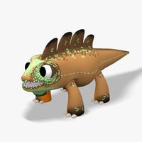 3dsmax lizard cartoon toon