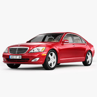 3d model of mercedes-benz s-class luxury sedans