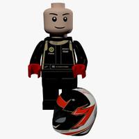 lego kimi raikkn 3d model