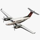 Beechcraft king air 3D models