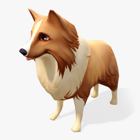 s cartoon animals sheltie model