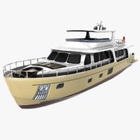 3d yacht 100 model