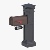 3d max mailbox mail box