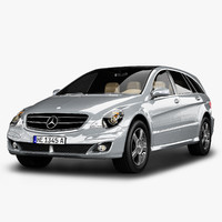3d model mercedes-benz r class mercedes
