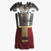 3d model realistic roman armor