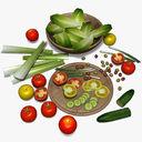 salad 3D models