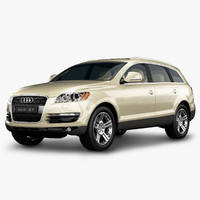3d audi q7 luxury suv