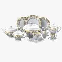 3d porcelain dinner set